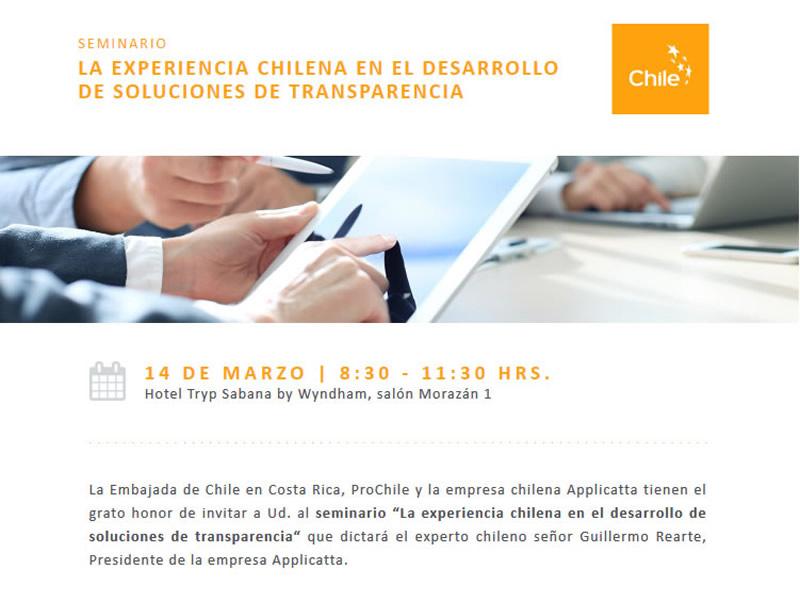 Invitación a Seminario La Experiencia Chilena en el Desarrollo de Soluciones de Transparencia